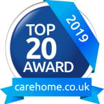 Top 20 award - carehomes.co.uk